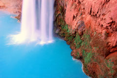 Havasu Falls. Picturesque Beautiful Grand Canyon Waterfall Royalty Free Stock Images