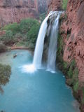 Havasu Falls. In Havasu Canyon, remote area only accessible by hiking or backpacking Royalty Free Stock Photo