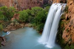 Havasu Falls 8/12/2008 Royalty Free Stock Photography