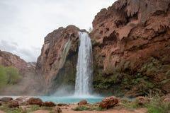 Havasu Falls Arizona. Beautiful and powerful Havasu Falls near Supai Arizona stock image