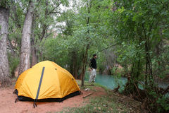 Havasu Falls Campground stock photo
