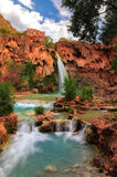 Havasu falls, Grand Canyon, Arizona. Grand Canyon, Havasupai Indian Reservation, amazing havasu falls in Arizona stock photo