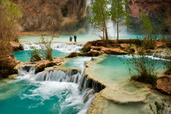 Havasu Falls Hike. Hiking at beautiful Havasu Falls in Arizona Royalty Free Stock Images