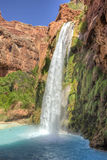 Havasu Falls Mighty and Blue Stock Photography