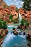 Havasu Falls, natural paradise in the Grand Canyon royalty free stock image