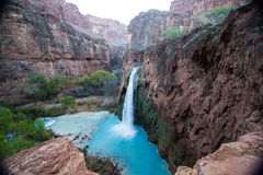 Havasu falls. Near Supai arizona stock images
