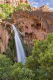 Havasu Falls Travertine Forest and Sky Stock Photos