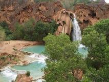 Havasu Falls. Turquoise water fills the pool beneath Havasu Falls in Havasu Canyon royalty free stock photos