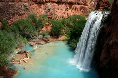 Havasu Falls Waterfall stock photos