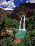HavasuFalls#5. Havasu Falls, on the Havasupai Indian Reservation, located in the Grand Canyon, Arizona Royalty Free Stock Photography