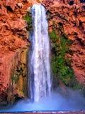 Havasupai spadki, baseny, błękitne wody, geological formaci skały ściany Zdjęcie Royalty Free