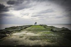 Havdungebrygga Fotografering för Bildbyråer