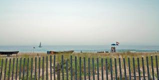Havdungestrand som är ny - ärmlös tröja USA Arkivfoto