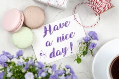 Have A Nice Day Note Royalty Free Stock Photography