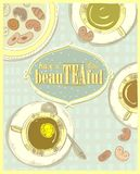 Have a beautiful day, quote card, tea poster Royalty Free Stock Photography