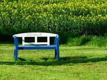 Have a break. A kloenbank is a bench, where people take place to talk to each other Stock Image