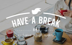 Have a Break Just Break Cessation Relaxation Recess Concept.  Royalty Free Stock Images