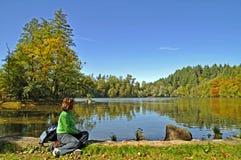 Have a break at lake Royalty Free Stock Image