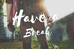 Have a Break Recess Cessation Relaxation Relief Rest Concept Royalty Free Stock Photography
