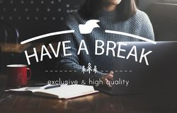 Have A Break Relaxation Stop Resting Concept Royalty Free Stock Photo