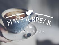 Have A Break Relaxation Stop Resting Concept. Have A Break Coffee Relaxation Concept Royalty Free Stock Photo