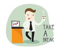 Have a break time. Vector illustration business cartoon concept stock illustration