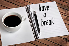Have a break word Stock Images