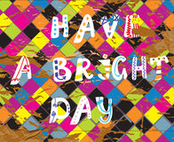 Have a bright day funny card for birthday stock illustration