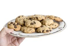 Have a chocolate chip cookie Royalty Free Stock Images