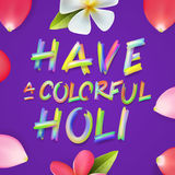 Have a colorful Holi, poster of indian festival stock illustration