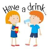 Have a Drink. Kids Have a Drink illustration vector illustration