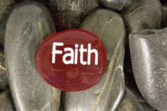 Have Faith Encouragement Stone Royalty Free Stock Images