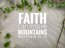 Have faith in God with bible verse design for Christianity with sandy beach background.