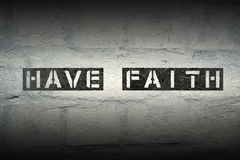 Have faith gr Royalty Free Stock Image