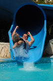 Have fun on aqua park Stock Photography