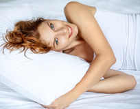 Have a fun in bed Royalty Free Stock Photography