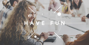 Have Fun Feel Good Happiness Concept. Diverse People Meeting Have Fun Feel Good Happiness Royalty Free Stock Photos