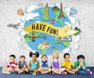 Have Fun Happy Enjoyment Pleasure Joyful Concept Stock Images