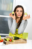 Have fun in kitchen Stock Image