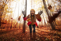 Have fun in park Royalty Free Stock Image