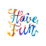 Have fun! Rainbow splash paint Stock Photo