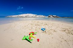 Have fun in the sand Royalty Free Stock Images