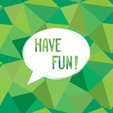 Have fun speech bubble. Happy holiday sign Party card background. Have fun speech bubble. Happy holiday sign. Party invitation bottom Card background Stock Image