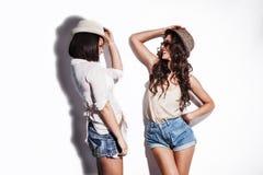 Have a fun summer fashion women Stock Image