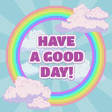 Have a good day card design Royalty Free Stock Photos