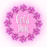Have a good day! Nice day wishes card. Cute floral Royalty Free Stock Images