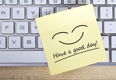 Have a good day Note Stock Photography