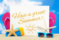 Have a great summer Stock Image