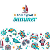 Have a great summer. Summer vector illustration with nautical design elements vector illustration