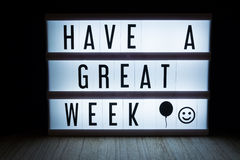 Have a great week Stock Images